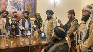 By evening, the taliban was giving television interviews in the lavish presidential palace, just hours after ghani had departed afghanistan. Jn6 Rpijhmo2 M