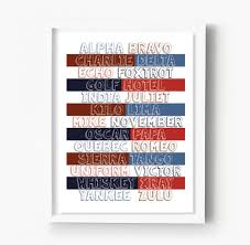 Not knowing it would show a lack of military bearing that would be embarrassing to damn near any military member. Nato Phonetic Alphabet Nursery Kids Room Print Sproutjam