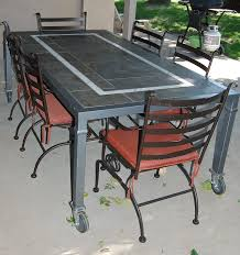 outdoor glass table and chairs costco outdoor table stone top patio furniture stone table wicker patio furniture