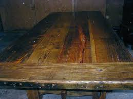 barnwood dining table with 3 top