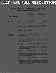 Pharmacist Resume Examples Resume Template
