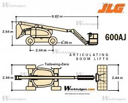 jlg 600aj articulated platforms on wheels articulating boom jlg 600aj machinery specifications