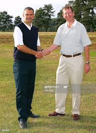 Professional Ian Benson of Hindhead and amateur Simon Marvell pose... News  Photo - Getty Images