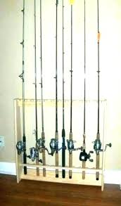 fishing rod wall rack a holder mount pole hangers for boat homemade holders garage picture of