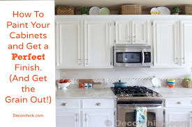 painting wood cabinets whiteHow To Paint Your Cabinets Like The Pros and Get the Grain Out