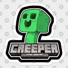 Minecraft Sticker Chart Creeper Aw Man