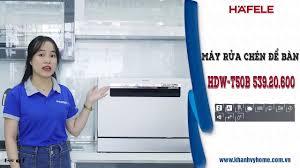 Review máy rửa chén Hafele 6 bộ HDW-T50B 539.20.600 ,mẫu máy rửa chén mới  nhất Hafele - YouTube