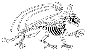 Small Picture Easy Skeleton Coloring Page Coloring Coloring Pages
