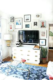 tv gallery wall layout white campaign dresser and gallery wall this is nearly the exact set