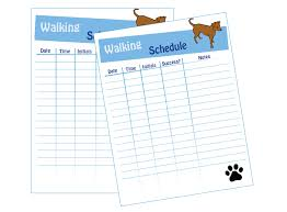 Dog Walking Chart Dog Walking Schedule Dog Walking Flyer Dog Walking