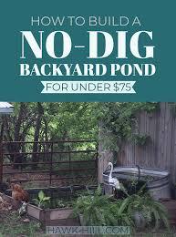how to build a no dig backyard pond for