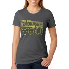 Old Glory - May The Fourth Be With You Womens Heather T Shirt Deep Heather  MD - Walmart.com - Walmart.com