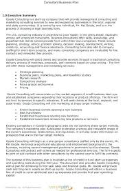 Free Executive Summary Template Business One Page Plan Examples