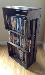 wood crate bookcase wooden crate bookshelf