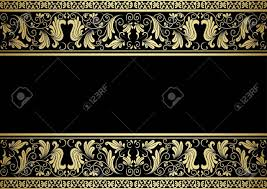 Gilded Design Gilded Frame With Decorative Elements In Retro Style For Design