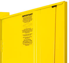 Yellow Flammable Cabinet Elite Flammable Cabinet 1525 H X 915 W X 457 D Mm