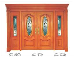 classic door with tempered glass