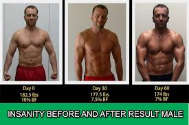 insanity workout before and after male