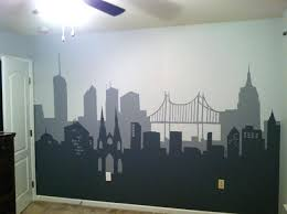 ny yankees wall decals best bedroom images on new batman bedroom i painted for son using