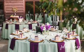 Reception Table Set Up Plum And Sage Wedding Colors Wedding Reception Table Set