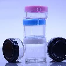 10g Refillable <b>MINI</b> Face Cream Jars Empty <b>Color Plastic</b> Sample ...