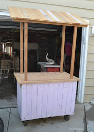 Diy Food Cart Design Diy Lemonade Stand From An Old Cabinet Old Cabinets Food