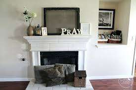 fireplace mantel shelves for design idea above stack the ideas shelf decorating