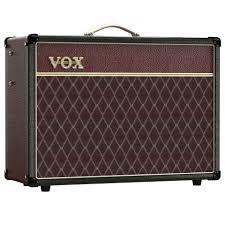 vox ac15c1 cb black maroon two tone