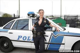 Molly Jane busty officer gets screwed on her patrol car BangBros.