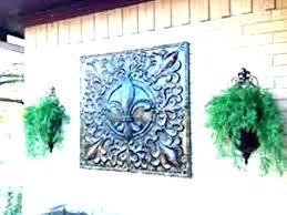 metal palm tree wall art trees sun outdoor outdo