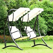 2 person porch swing outdoor hanging canopy hammock garden chair patio furniture
