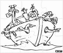 Kleurplaat Puzzel Voor De Ark Van Noach Kleurplaten
