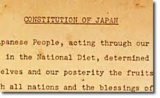 「1946 GHQ gave constitution model to japanese government」の画像検索結果