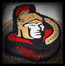 Cake Design Ottawa Ottawa Senators Cake Hockey Cakes Hockey Birthday Cake