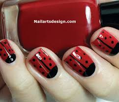Nail design ladybug ~ Beautify themselves with sweet nails