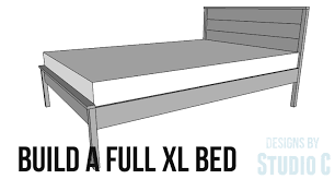 An Easy To Build Bed for a Full XL Mattress |