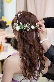 挙式とイメチェン花嫁向けお色直しヘアスタイル集ロング編 花嫁