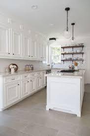 white kitchen tile floor. BEFORE \u0026 AFTER: A Dark, Dismal Kitchen Is Made Light And Bright! Tile FloorsKitchen White Floor Pinterest