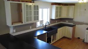 custom made absolute black granite counter top w leatheredantiqued finish u0026 sink installed youtube black granite counter b36 counter