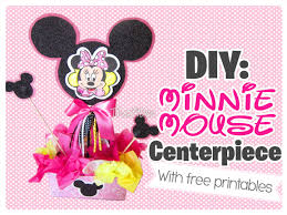 diy minnie mouse centerpiece with free printables