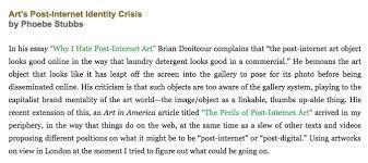 essay art s post internet identity crisis phoebe stubbs