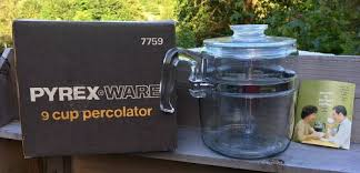 Unfollow coffee percolator glass to stop getting updates on your ebay feed. Glass Pyrex Flameware Coffee 6 9 Cup Percolator 7759 B Item 1402377