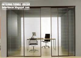 office sliding door. Modern Sliding Glass Door With Aluminum Frames For Office Room Interior O