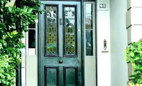 fancy door with glass panel replace panels in front upvc insert