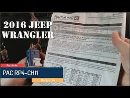 splicing and programming a pac rp4 ch11 radiopro4 to a joying in a splicing and programming a pac rp4 ch11 radiopro4 to a joying in a jeep wrangler