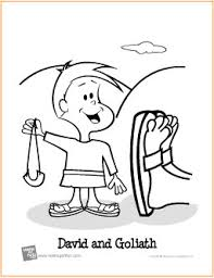 David And Goliath Free Printable Coloring Page