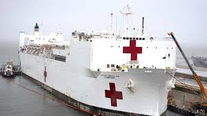 the navy hospital ships coming