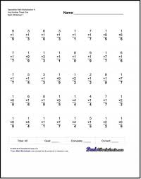 Math Fact Multiplication Worksheets Facts Worksheetr Timed Free ...