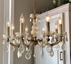 beautiful real french chandelier 8 arms and light points