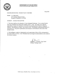 Air Force Letter Of Recommendation Character Letter United States Air Force By Zachariah Wiedeman Issuu 15
